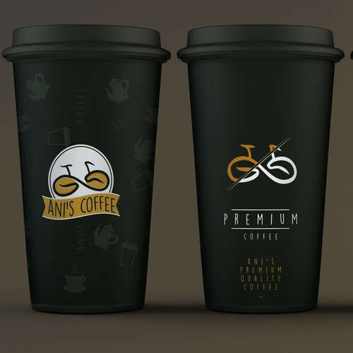 Modern coffee cup design for Ani's Coffee