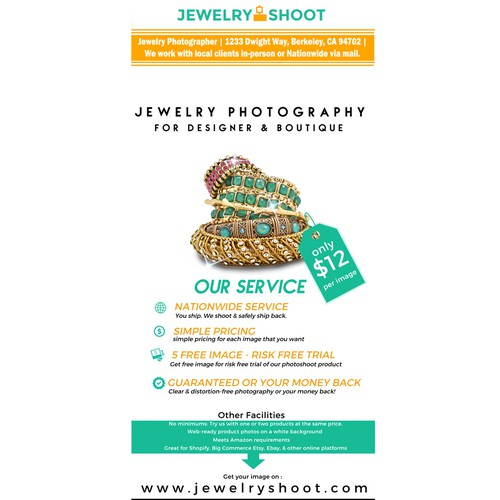 Jewelry Banner for Photographer