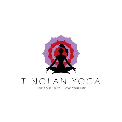 Logo design for a yoga center