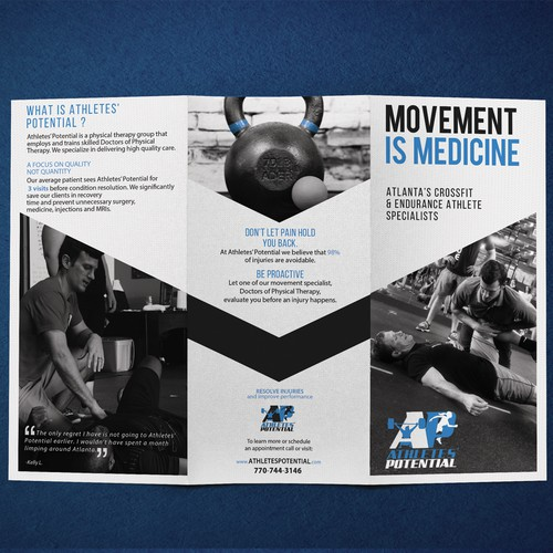 Cash-Based Physical Therapy practice for CrossFitters needs brochure