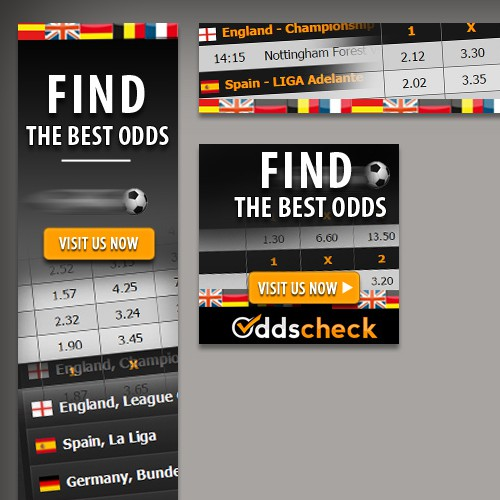 Super attractive banners for odds site