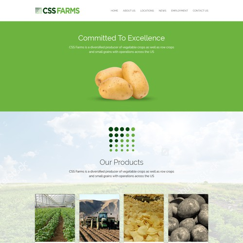 Website Design For Potato Farm