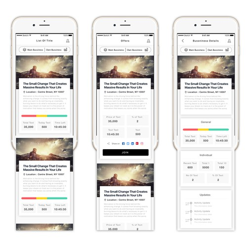 Bussiness and consulting app design