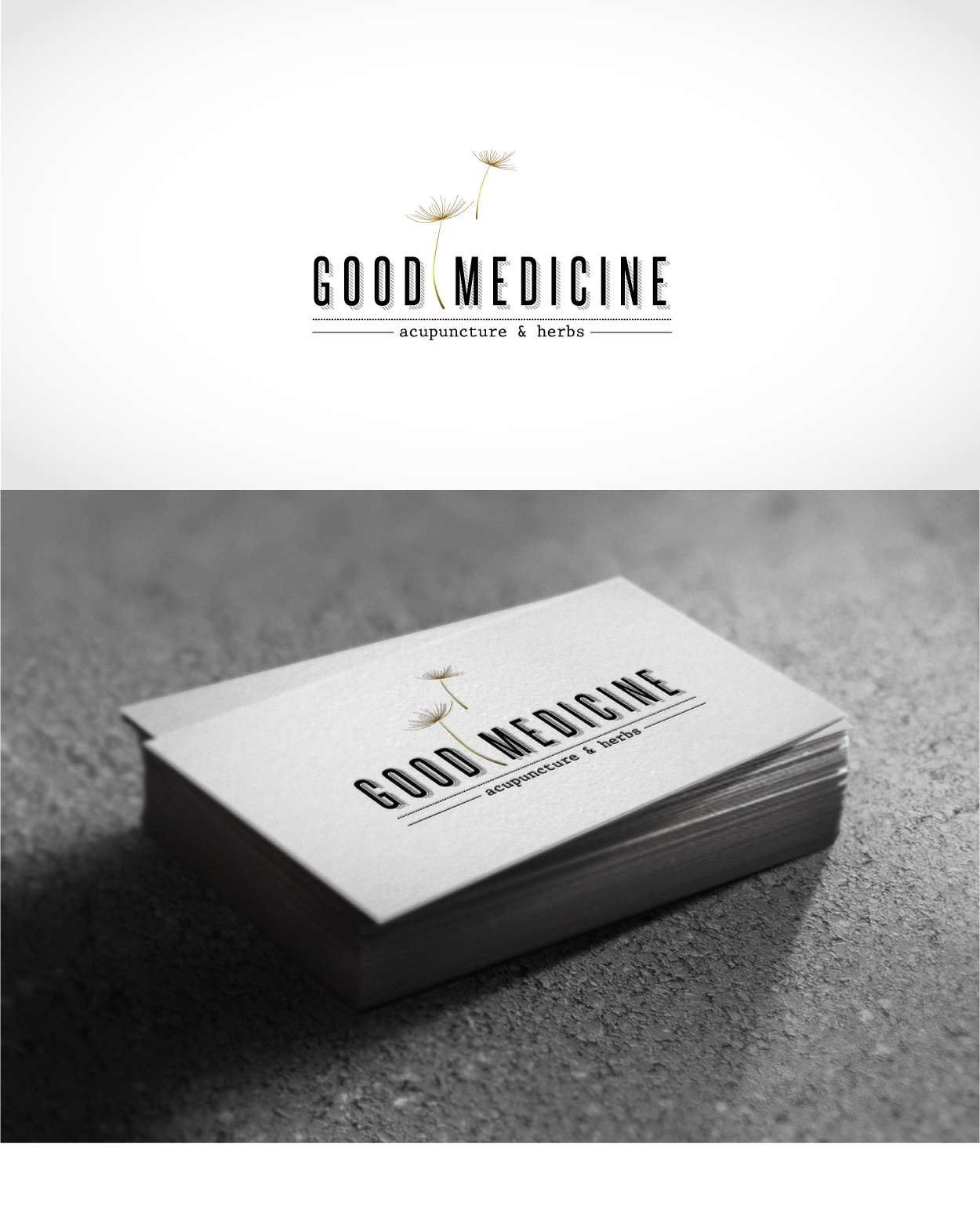 Help! Good Medicine Acupuncture & Herbs needs a logo that stands out.