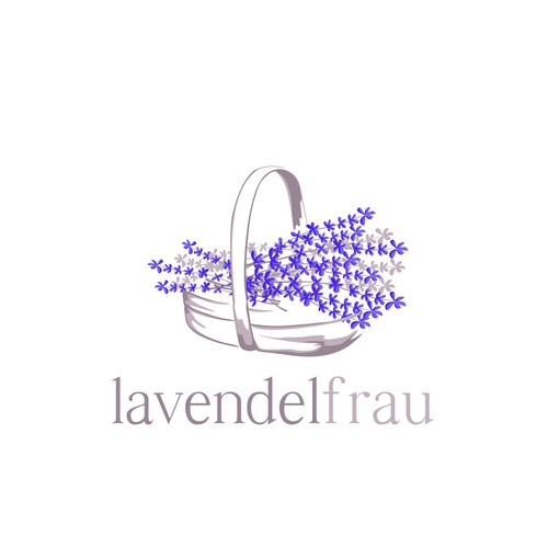 Logo concept for lavender farm's organic skincare line