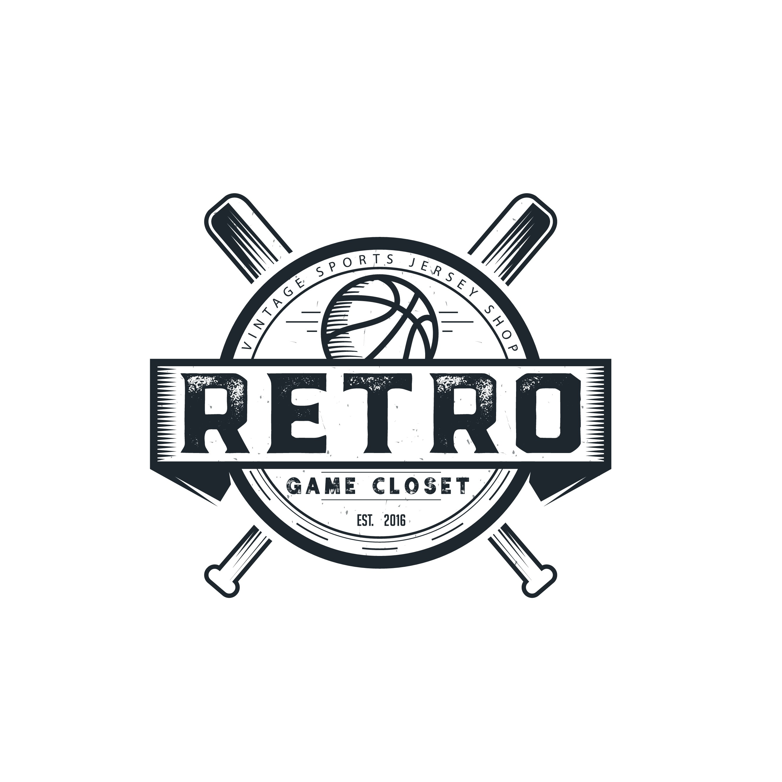 create me a logo for retro game closest that would also look great on a t shirt or hat