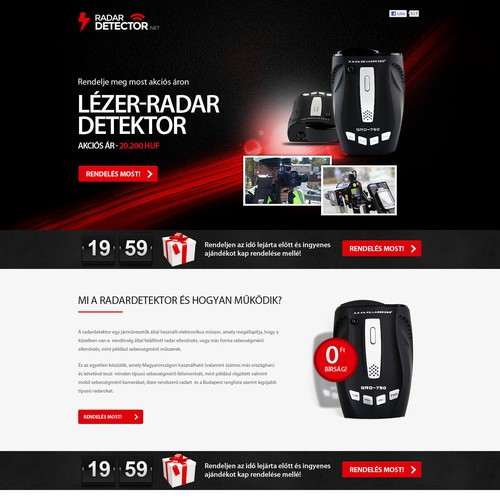 Create outstanding  sales page for Radar detector that will convert!