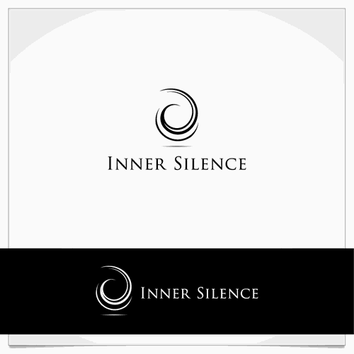 Inner silence logo. abstract design that generates feeling of inner silence