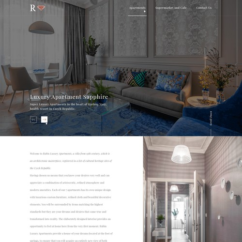 Web design for luxury apartments