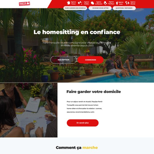 Redesign homepage for a housesitting site