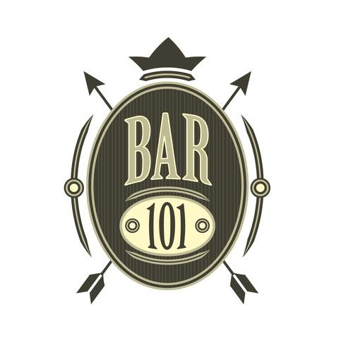 Bar logo shield