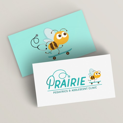Playful logo design for paediatric clinic
