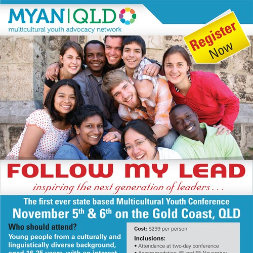 Multicultural Youth Advocacy Network Queensland needs a new postcard, flyer or print