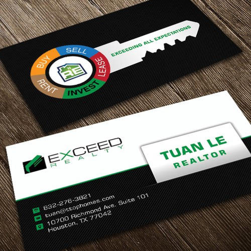 Create a UNIQUE and Creative business card for a real estate agent in a saturated field!