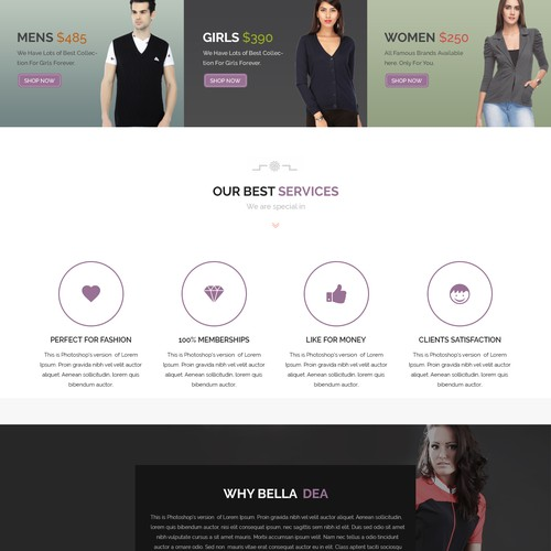 Bella Dea Website Design