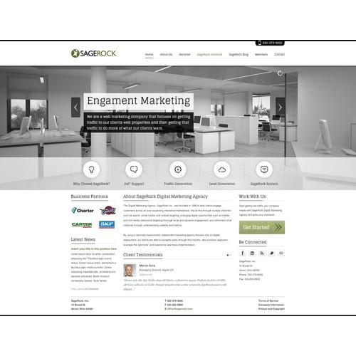 Web design for SageRock