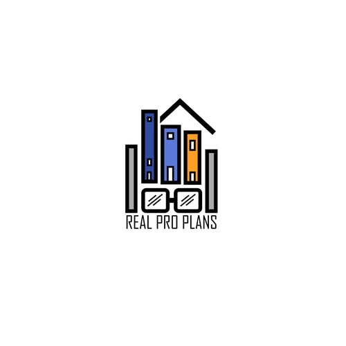 playful logo entry for REAL PRO PLANS