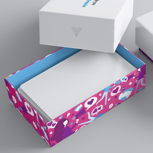 Illustration for Vistaprint's premium biz card boxes
