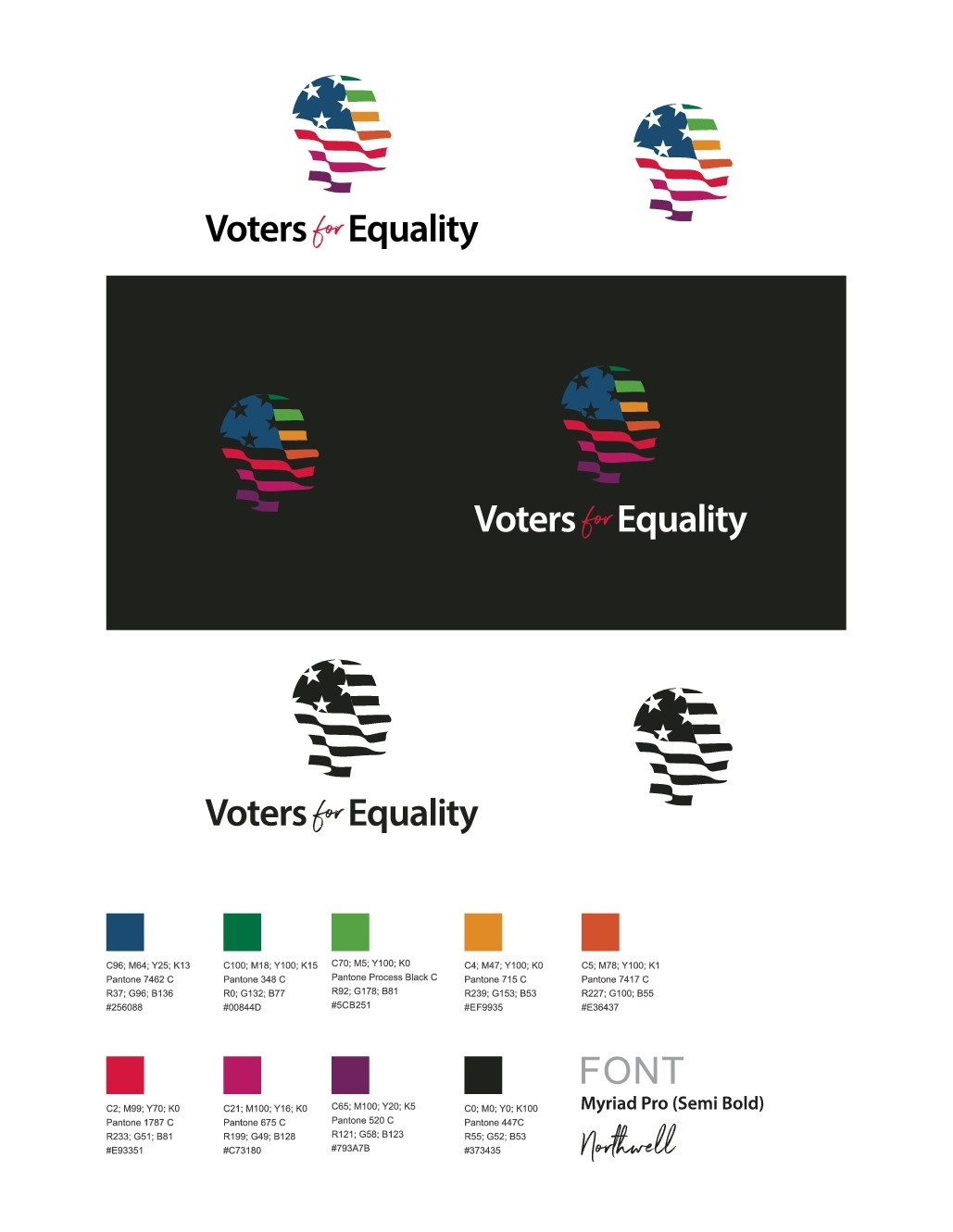 Design a modern, viral, iconic logo for LGBTQ equality organization