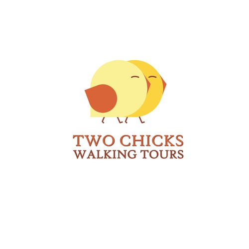 """Logo concept for walking tour """"Two chiks"""""""