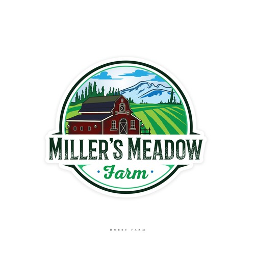 Emblem logo design for a Hobby Farm.