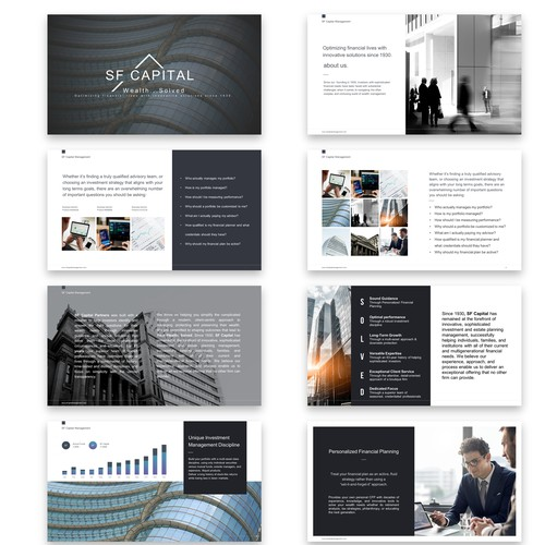 Presentation for financial services