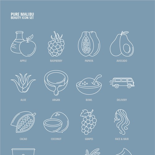 Feminine Icons for a Beauty Products Website