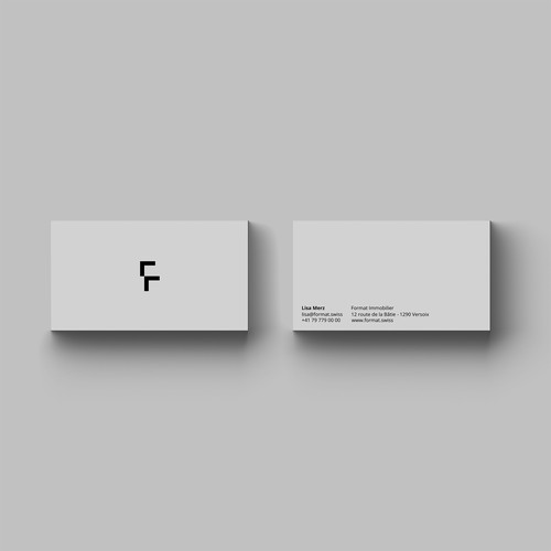 Logo and business card design for FORMAT.
