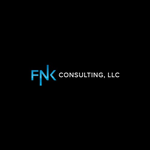 minimalist logo for fnk consulting