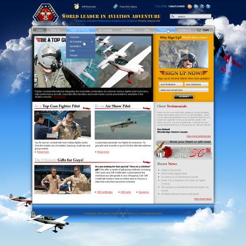 Extreme Aviation Adventure - Custom Design to Wordpress Theme
