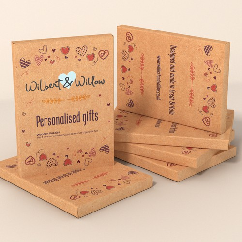 Design a packaging gift box for Wilbert & Willow