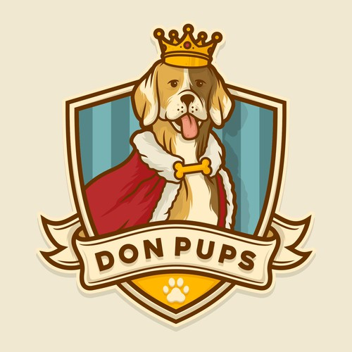 Final logo design for Don Pups