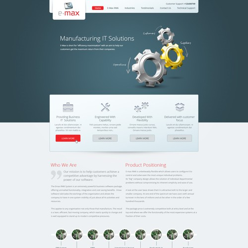 Web Design for Manufacturing IT Solutions