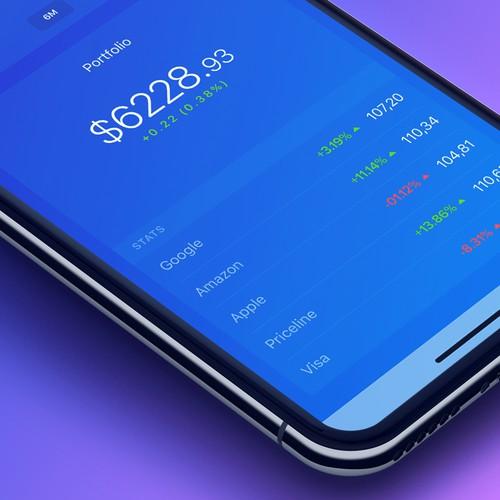 Simple stock chart homescreen
