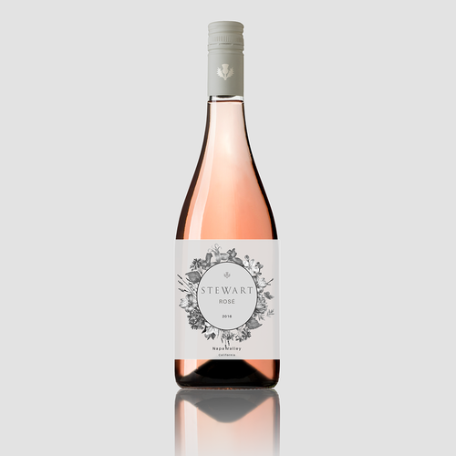 Label design for Stewart Rosé
