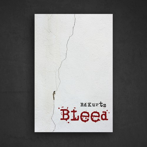 Minimal book cover for horror novel