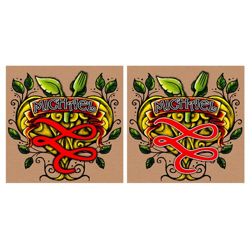Design my new Tattoo with my Wedding Invitation Logo