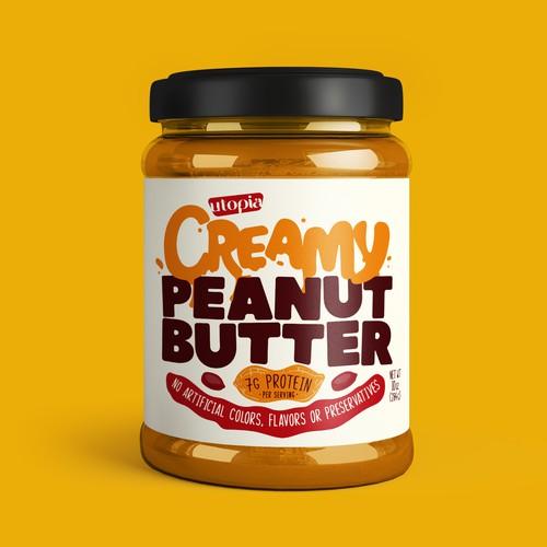 Peanut Butter label design