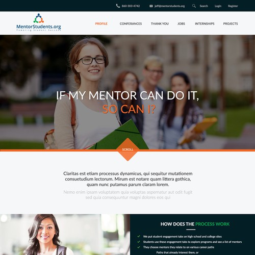Mentor Students Home Page Design