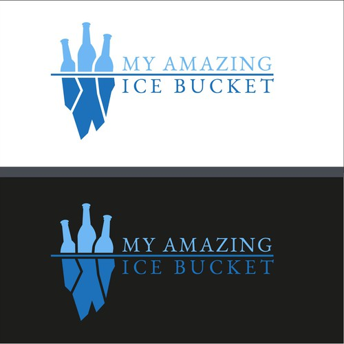 Logo con Iceberg e bottiglie