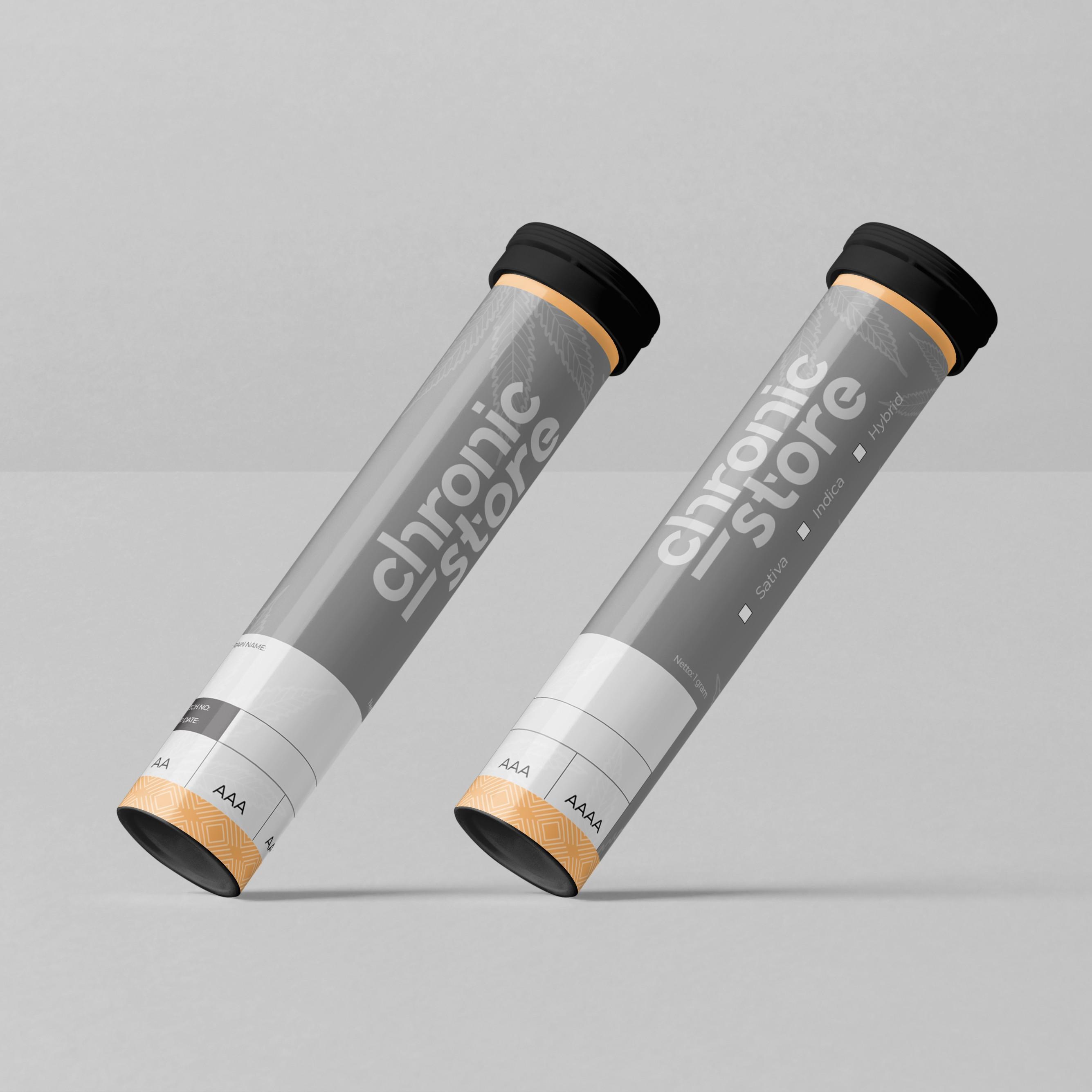 Tube Label Design For Cannabis Company - CSTORE