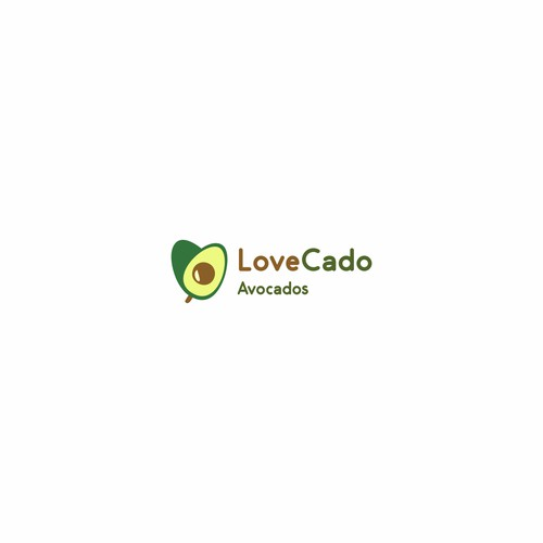 logo concept for avocado farm