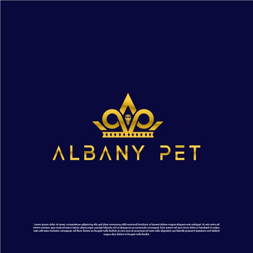 logo design for albany pet with luxurious style