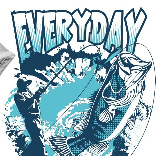 Create Designer Bass Fishing T-Shirt
