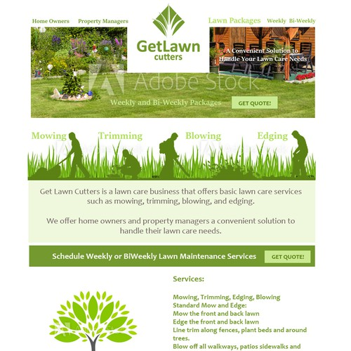 Website Comp for Lawn Company