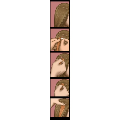 Create a new info graphic for Desinas hair extensions