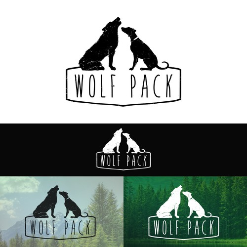 Create a logo for Wolf Pack