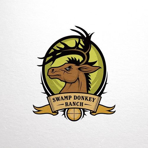 Swamp Donkey Ranch logo design