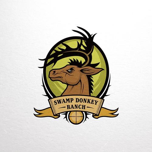 Swamp Donkey Ranch logo design
