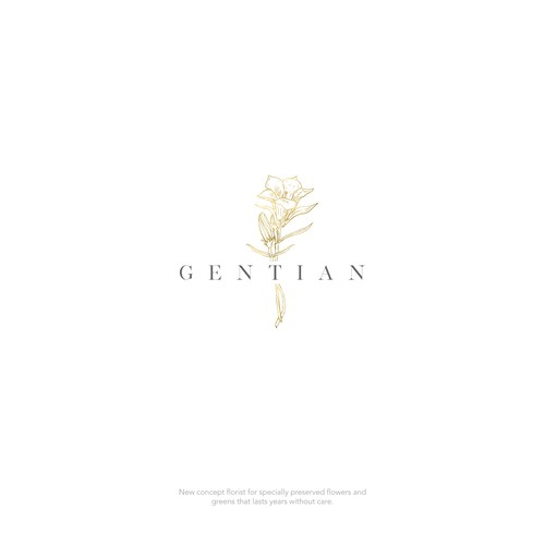 Logo design for Gentian, a new concept florist.